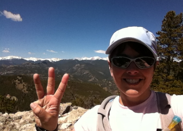 At last: Summit #3 (and much fatter fingers than on the first time up!)