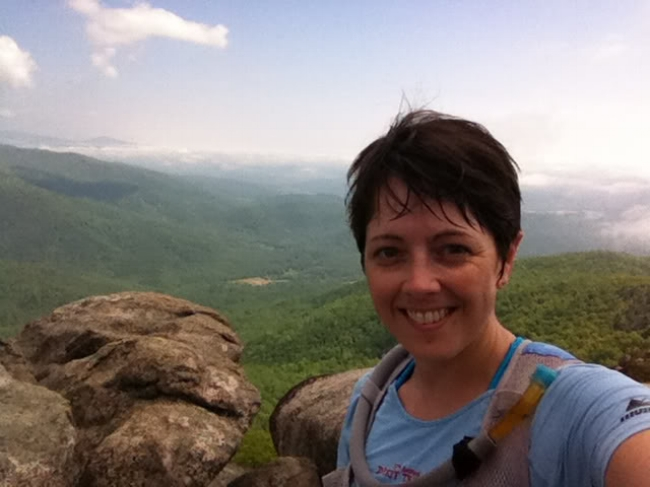 Completely soaked with sweat on Old Rag's summit.