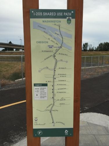 The same path goes pretty far into Portland.