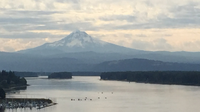 You get nice views of Mt. Hood along the way.