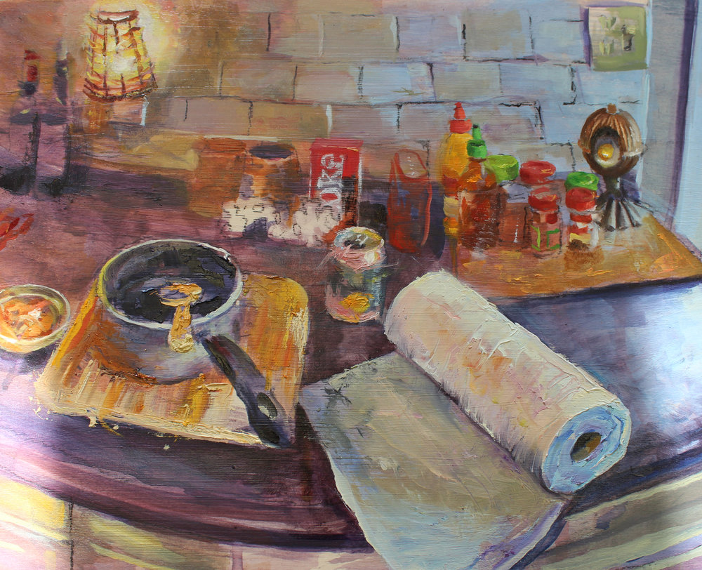 Abba Cudney | Everything I Love Is On The Table | 14x11"
