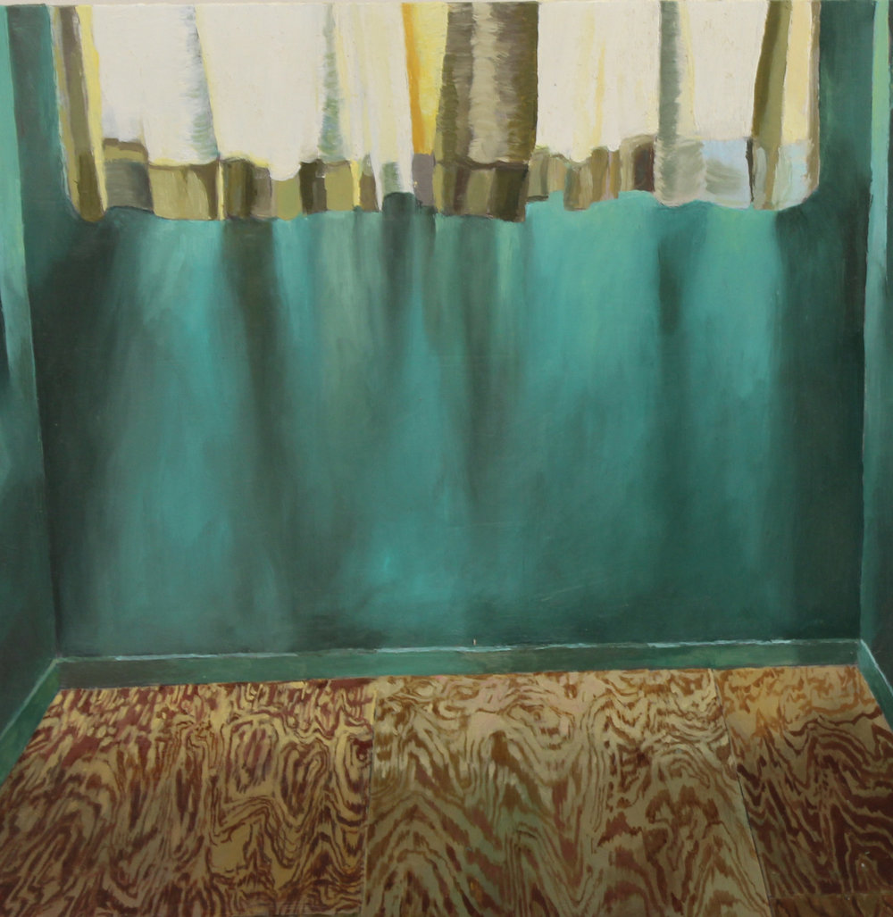 Jarid del Deo | Empty Room | Oil on Panel | 12x12"