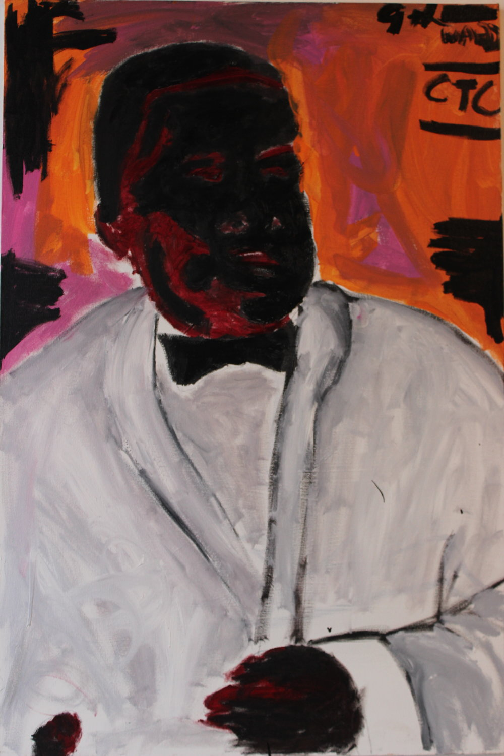 John Isiah Walton | Cross the Canal Waiter | Acrylic on Canvas | 36x24"