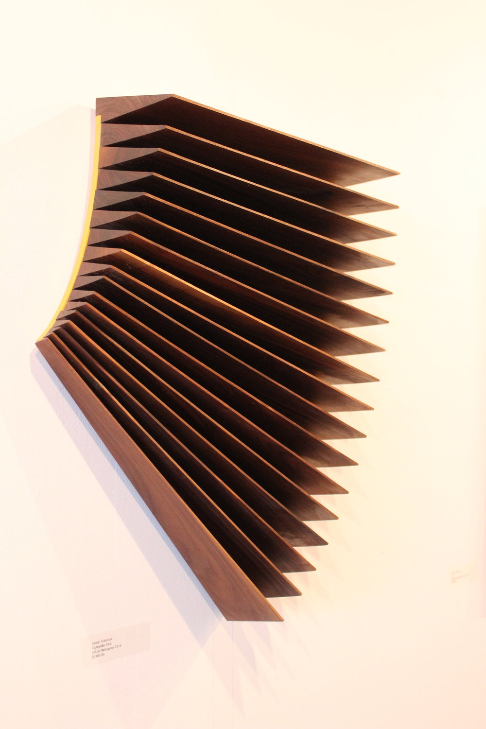 Jamie Johnston | Caterpillar Fan | Oil on Mahogany | 20x26"