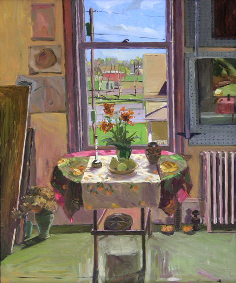 Amy Brnger | Interior in April | Oil on Panel | 24x20"