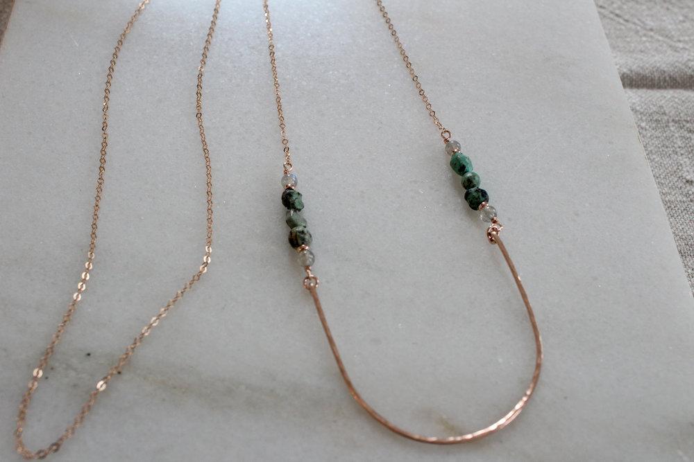 Hammered Boho Necklace - $64