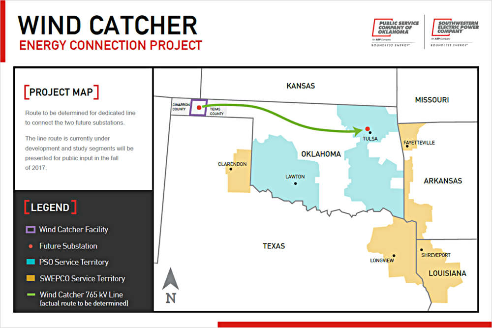 Oklahoma Wind Map.About The Project Wind Catcher Energy Connection