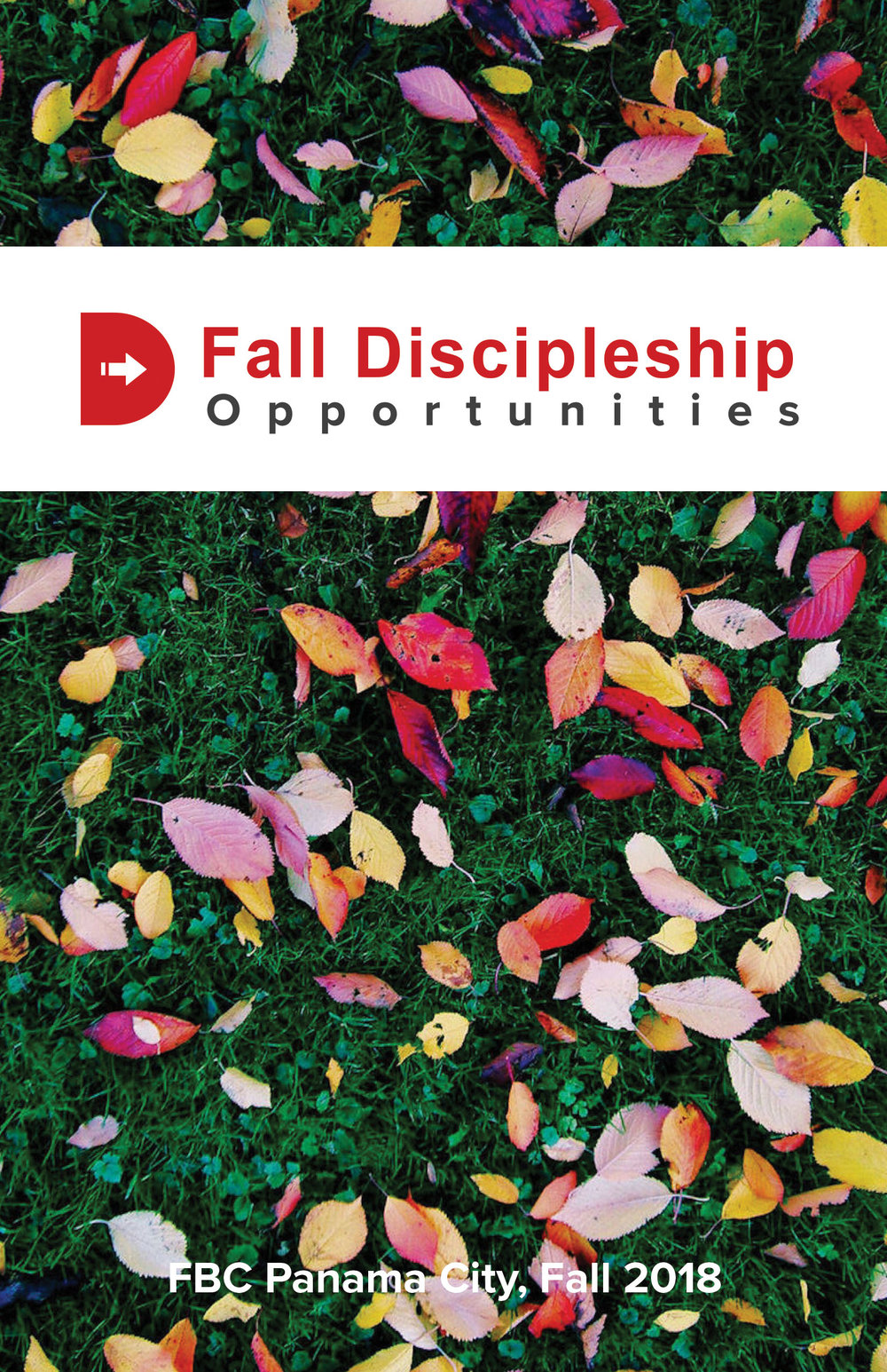 Fall Discipleship Opportunities Book - This book shows our members how they can further their education at FBC. For more information, please contact our Educations Coordinator, Jennifer Sims at jsims@firstbaptistpc.com.