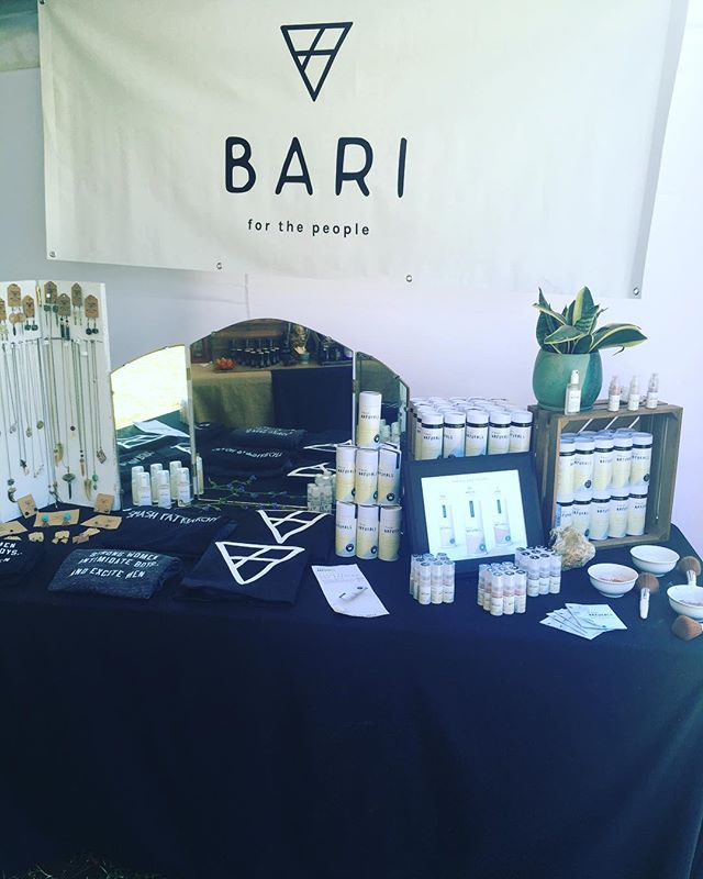 We are at the downtown @leaf_community_arts fest today until 10pm tonight! Come say hey and get a free demo on our fabulous dry shampoo!  #dryshampoo #travel #local #asheville #bari