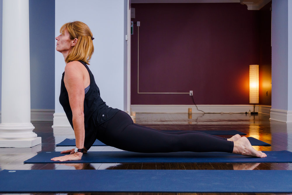 Slow Flow Yoga - A less intense approach to vinyasa flow, with opportunities to modify for more or less strength & energy. Instruction is geared towards a gentle to moderate practice. An unhurried, downtempo combination of engagement, movement, and rest. Appropriate for all levels.