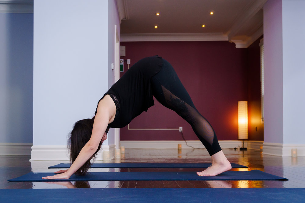 Hatha Flow - Move with breath through a balanced combination of sustained traditional yoga poses, designed to stretch and strengthen, as well as poses flowing in a mindful progression and mellow pace from one to another, with minimal rest in between. Appropriate for all levels.