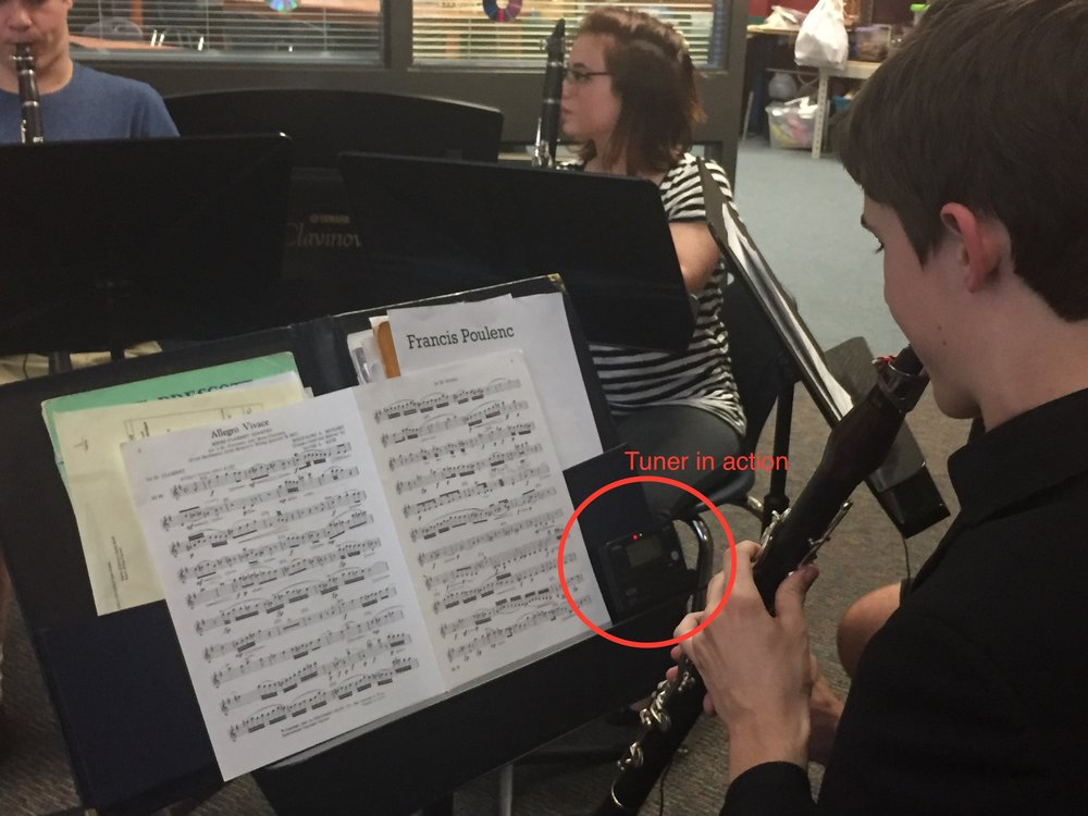 The Science of Intonation - Grant funds purchased electronic tuners for Heritage Middle School to help students gain knowledge and understanding of the science behind being