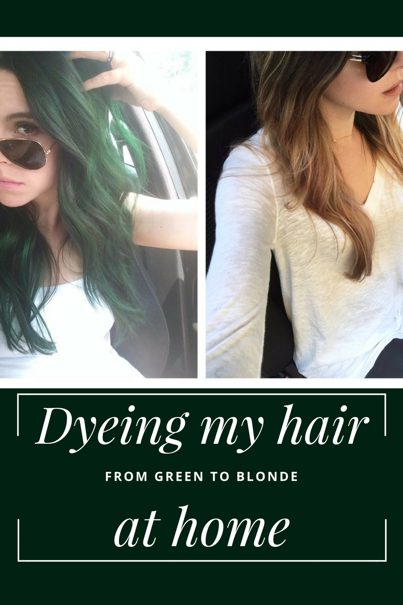 How I dyed my hair from green to blonde at home — the yankee