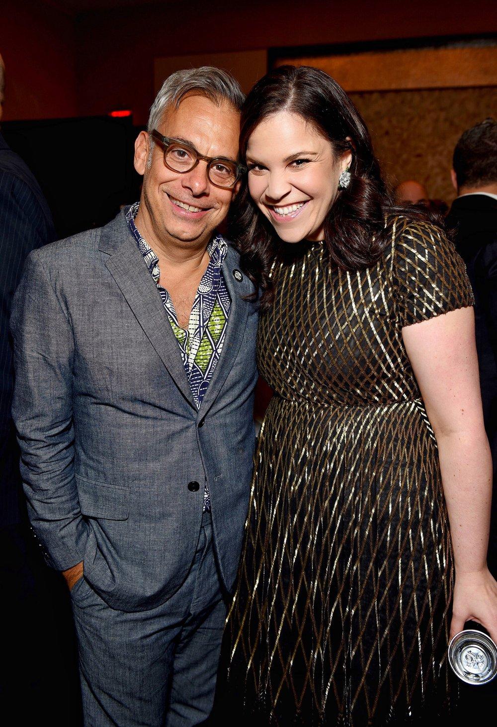Joe Mantello and Lindsay Mendez at 2018 Tony Award Nominees Press Junket by Jenny Anderson.jpg