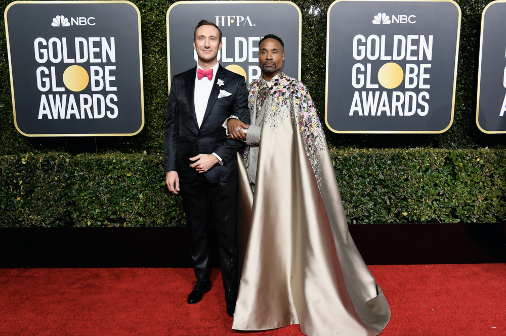 Adam Porter-Smith and Billy Porter at the Golden Globes Styled by Sam Ratelle RRR Creative.jpeg