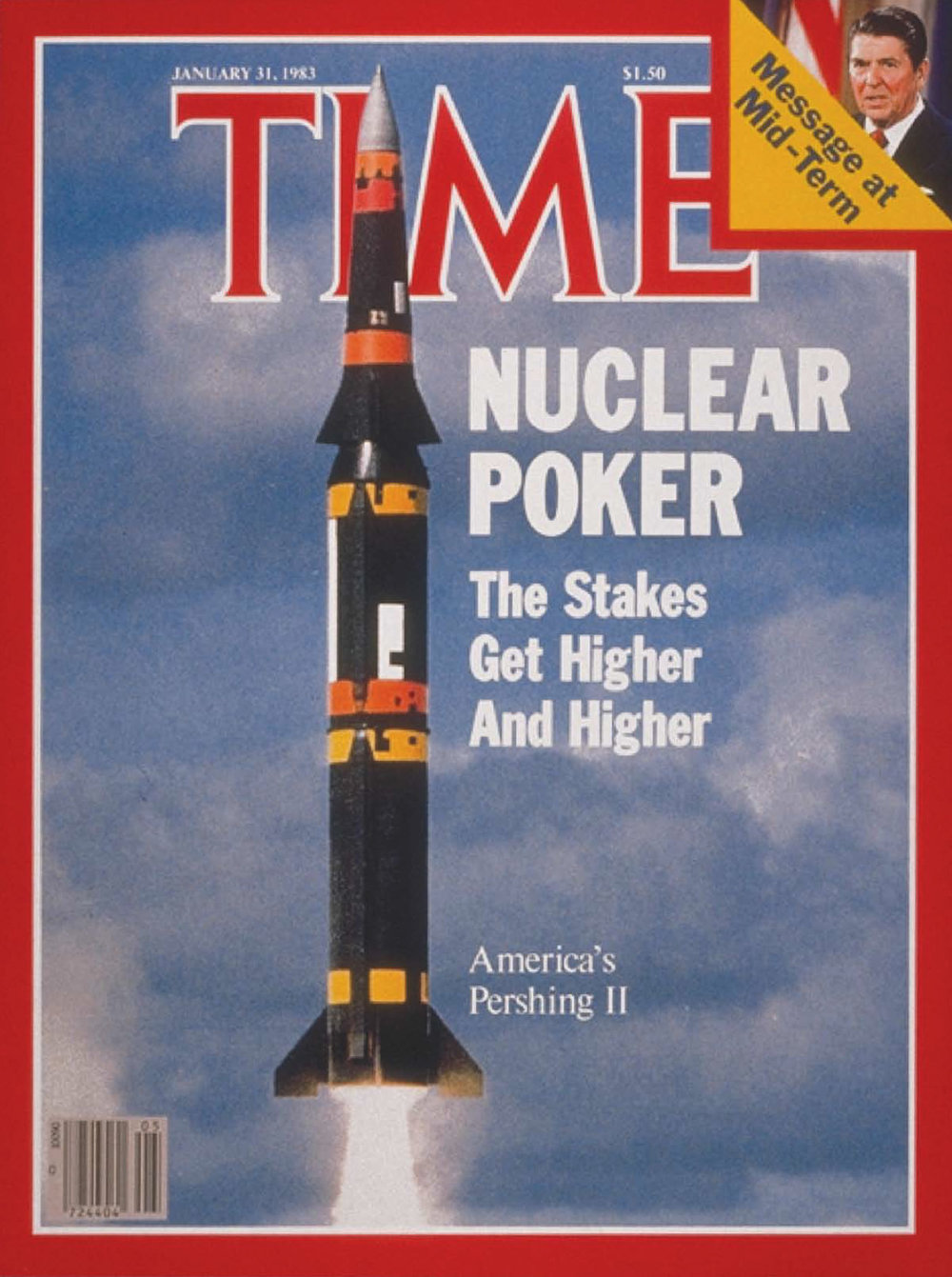 This cover of TIME magazines reflects the growing public Angst over the new INF missile race on the European continent.