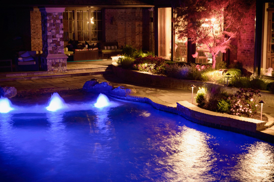 Beach Entry w/ Color-Changing LED Bubblers