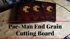 pac man end grain cutting baord wood by wright