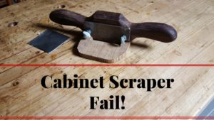 Making a Cabinet Scraper Like Stanley 81 Shopmade fail