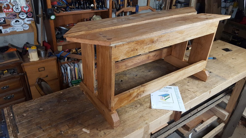 Saw bench plans wood by wright for Table saw workbench woodworking plans
