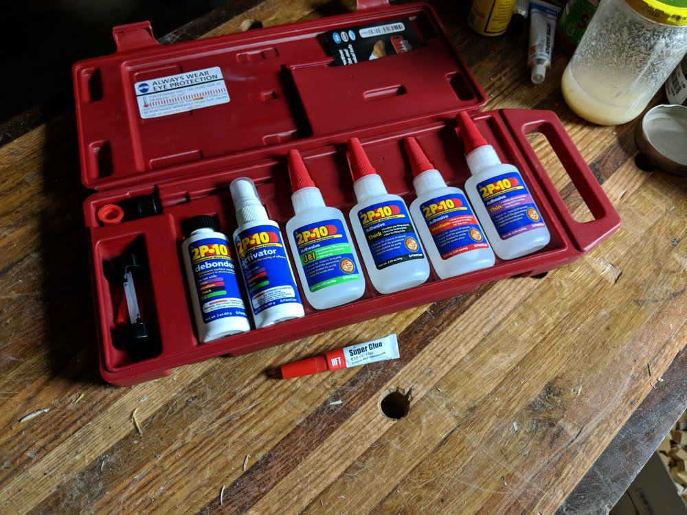 CA Glues Used