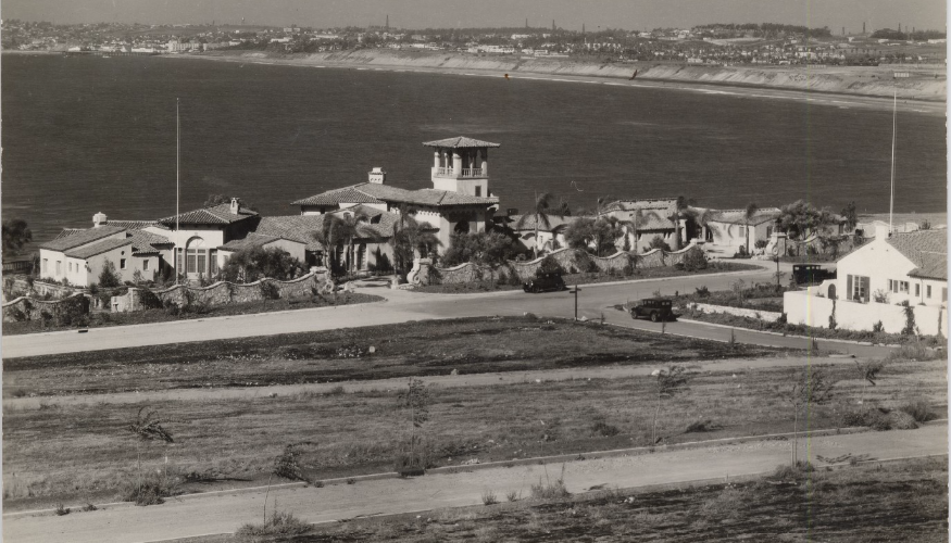 Malaga Cove and the Haggarty Residence, 1929  Courtesy Palos Verdes Library District,  Local History Center