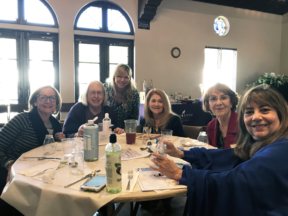 Members of Women's Fellowship at their February 2018 Meeting and Luncheon which included a special presentation on the benefits of and uses for Essential Oils. Attendees made their own safe, nontoxic foaming handsoap with lemon essential oil.