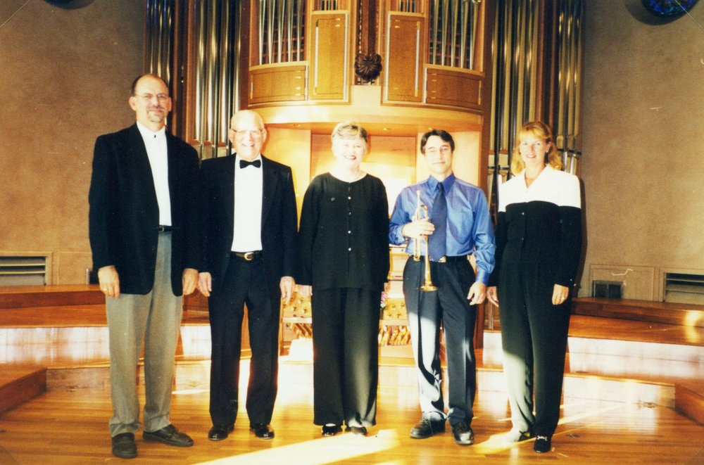 Becky as guest organist in 2000