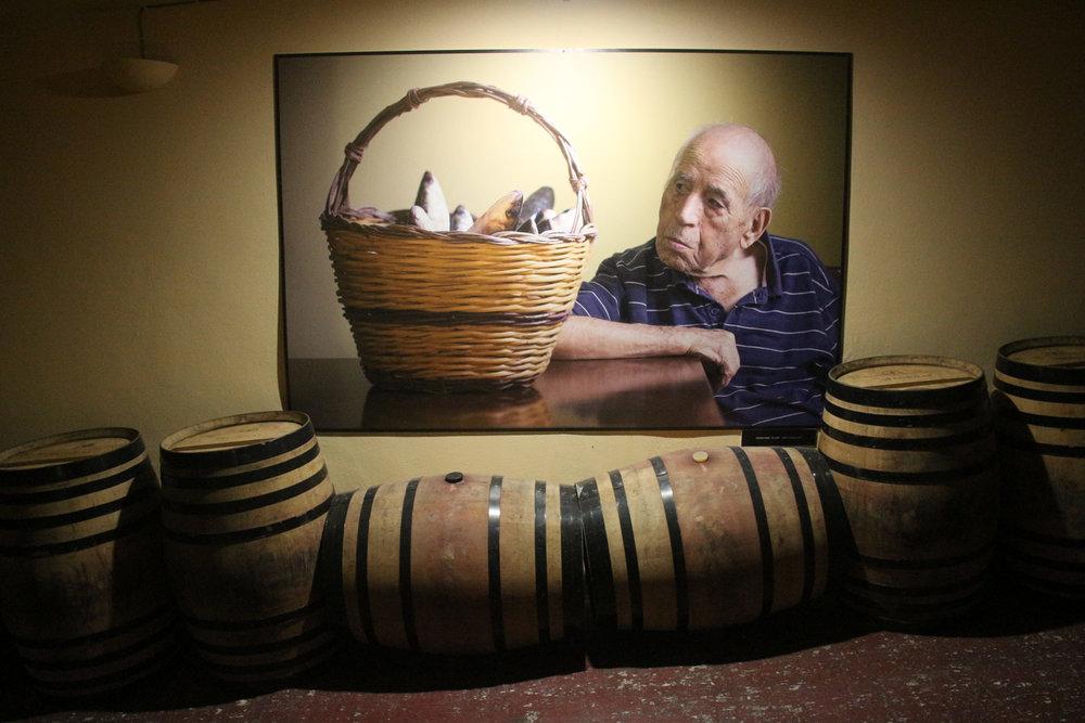 Photos of Sardinian centenarians at Argiolas winery
