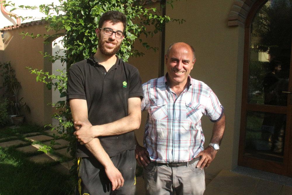 Mario Pala with son Francesco