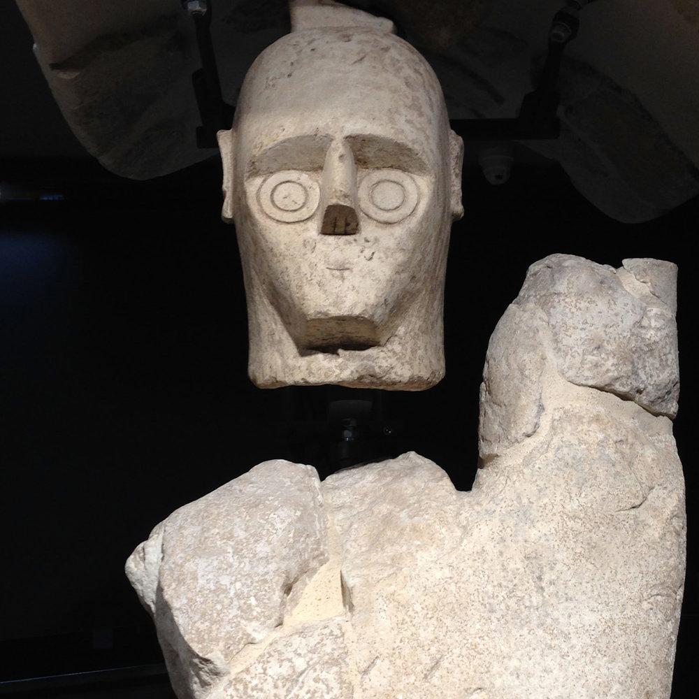 A Nuraghic warrior in the Cagliari museum