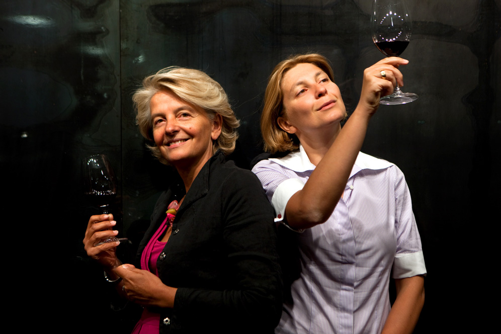 Teresa Severini and Chiara Lungarotti, courtesy Longarotti winery