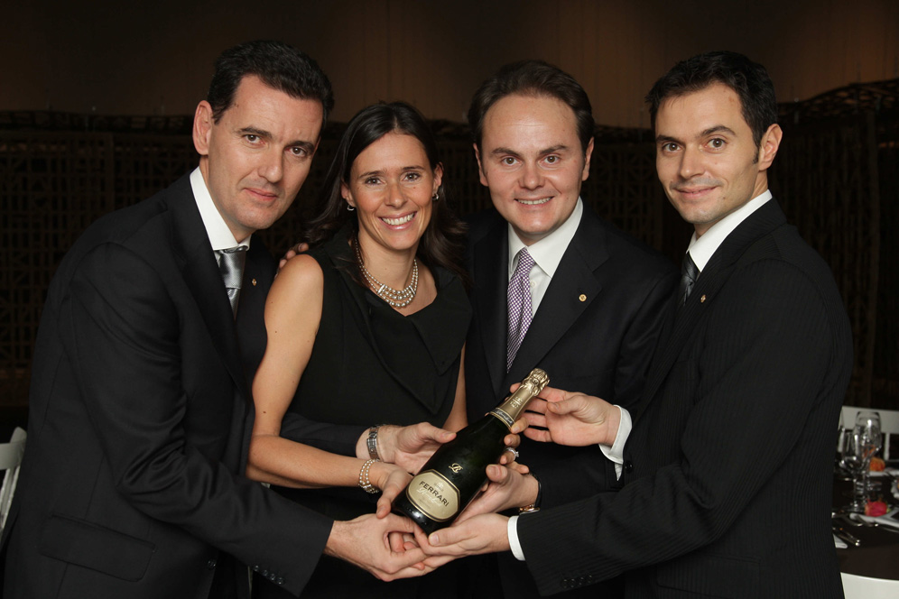 The Ferrari team: Marcello, Camilla, Matteo and Alessandro Lunali, courtesy Ferrari