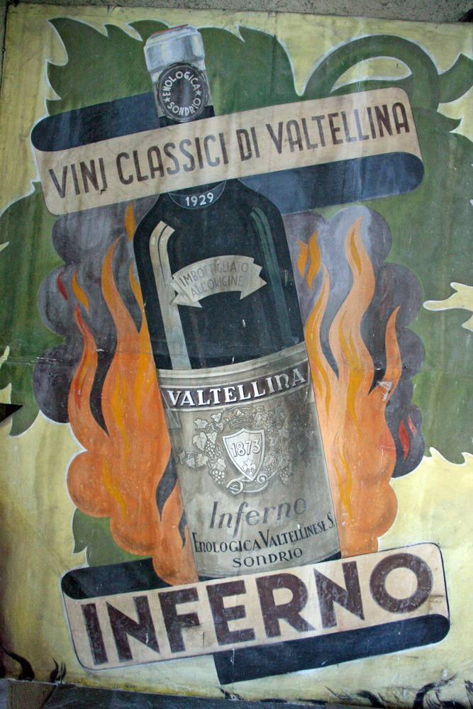 A vintage poster for Nino Negri's Inferno