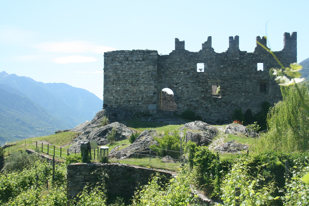 The ruins of a castle sit atop Grumello, one of five prized subzones