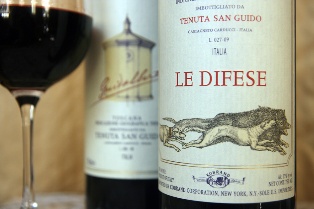 Can't afford Sassicaia? Try their mid-tier and entry level Guidalberto and Le Difese instead.
