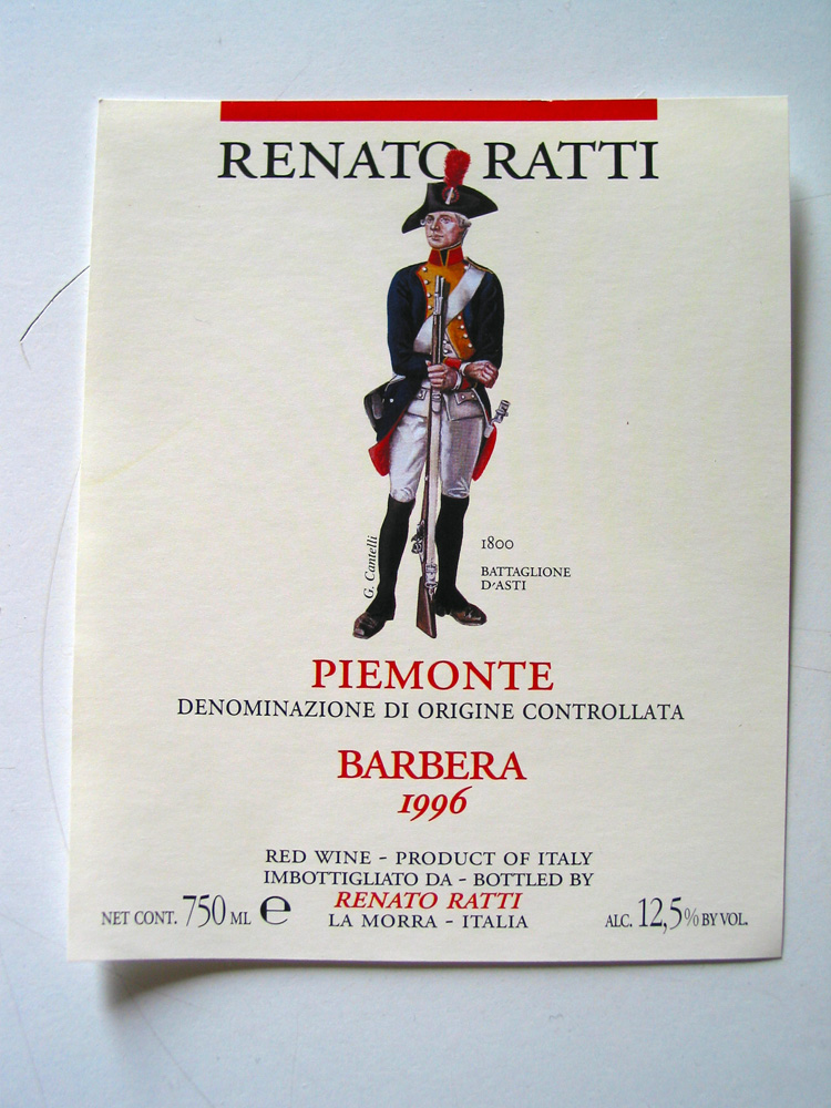 Labels preserving Piedmont's history