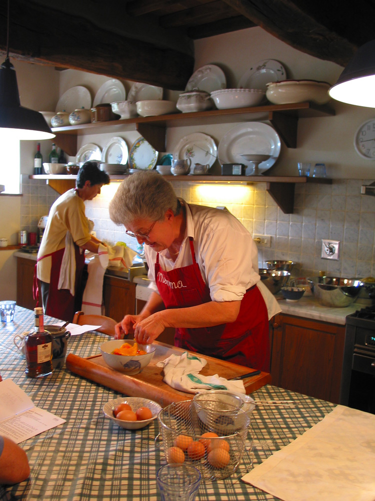 Sisters Mimma Ferrando (right) and Franca Gatteschi, of the Chianti cooking school Tutti a Tavola (Everyone to the Table).