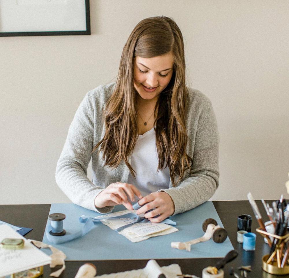 Kelsey of @lairseypaperco - Calligrapher