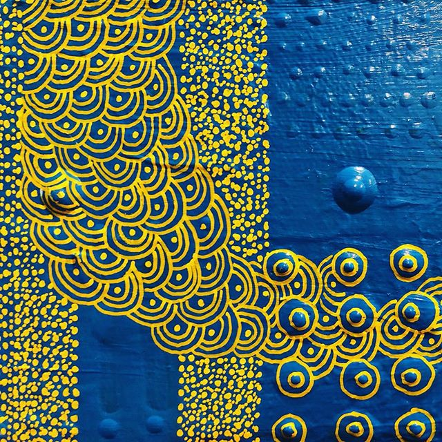 Details ✨✨ . . . . . . . . . #drawing #blue #painting #circles #pattern #nycart #contemporarypainting #nycgalleries