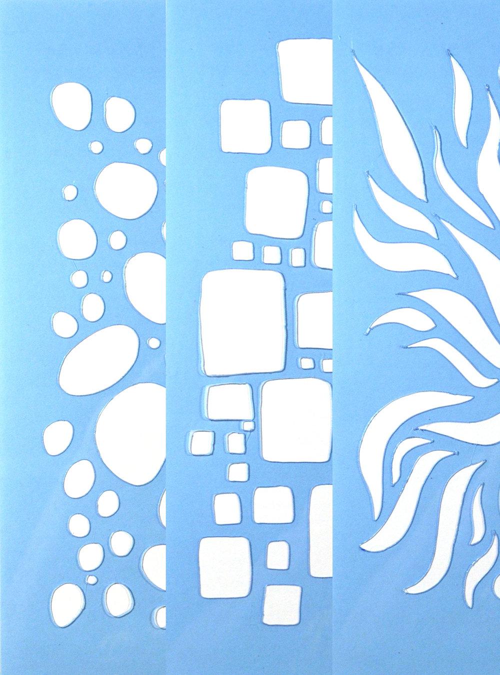 Hand Cut Stencils - 3 Pack