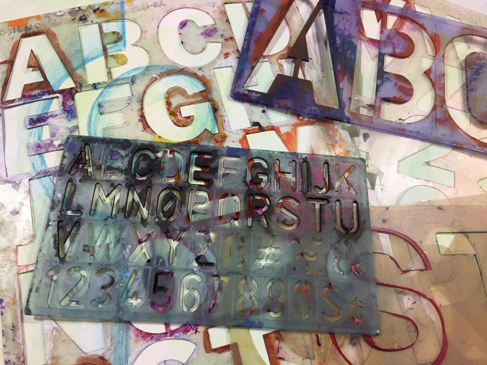 Materials Monday: Letter Stencils