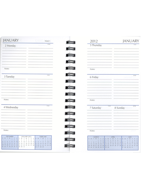 Ms  Single Year Daily Agenda Refill  Scully Planner