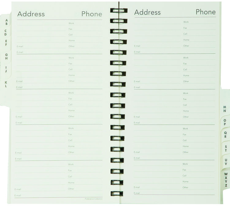 5008t telephone address book scully planner