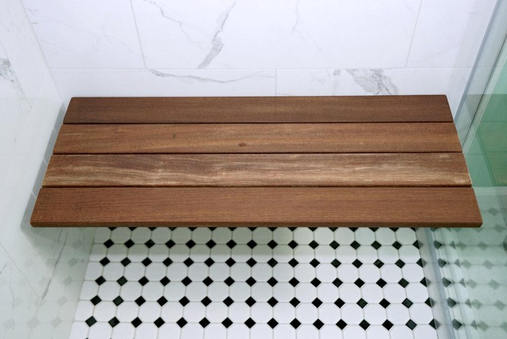 Ipe Wood Shower Bench