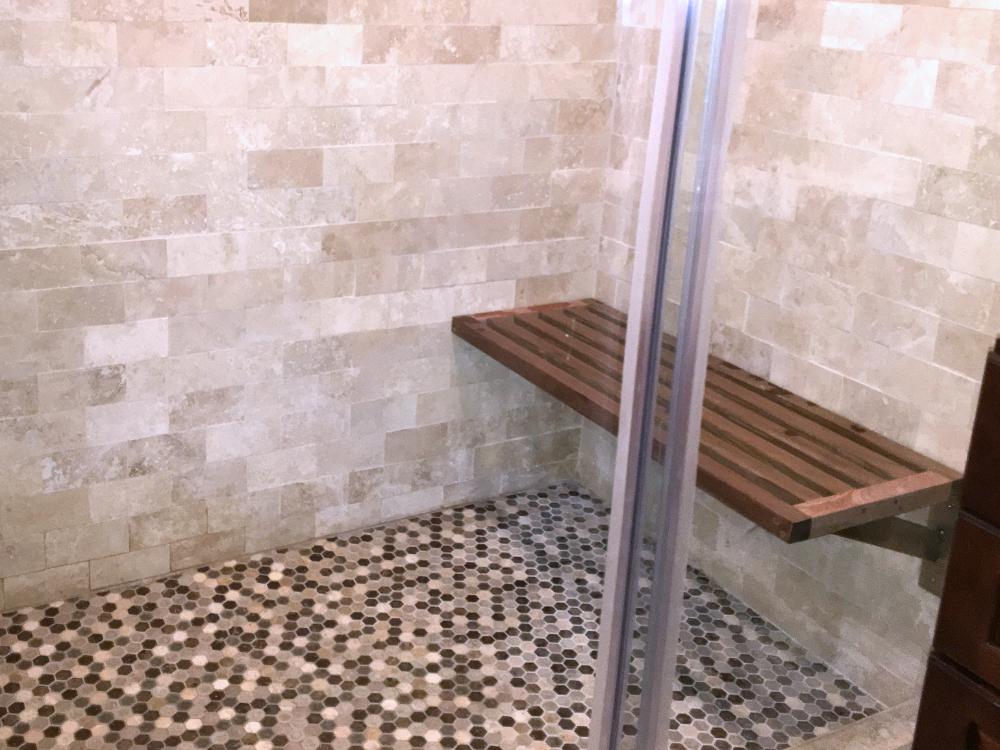 Cumaru Wood Shower Bench — ReGen