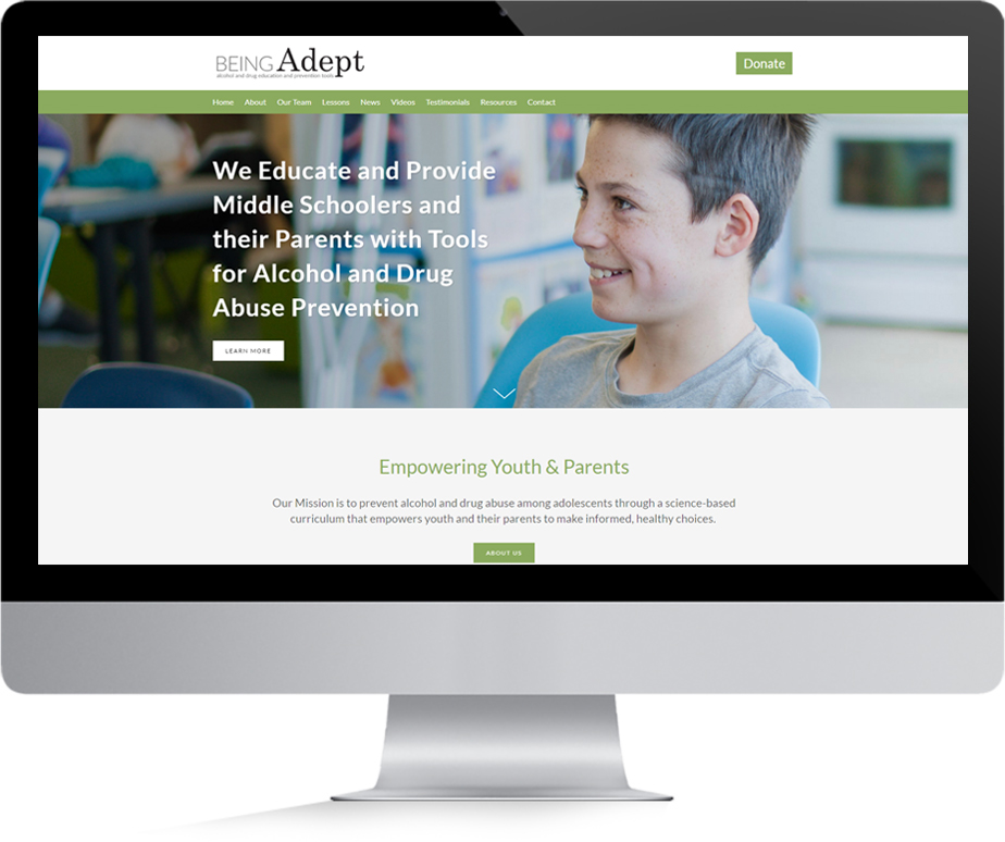 Being Adept Home Page Preview