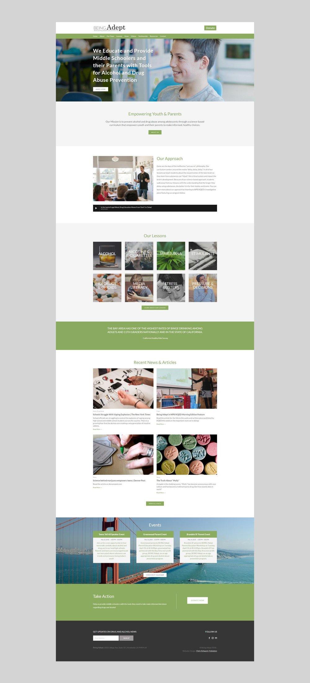 Being Adept Homepage_portfolio