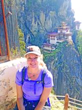 Montana Artist Amber Jean, Taktsang Monastery.