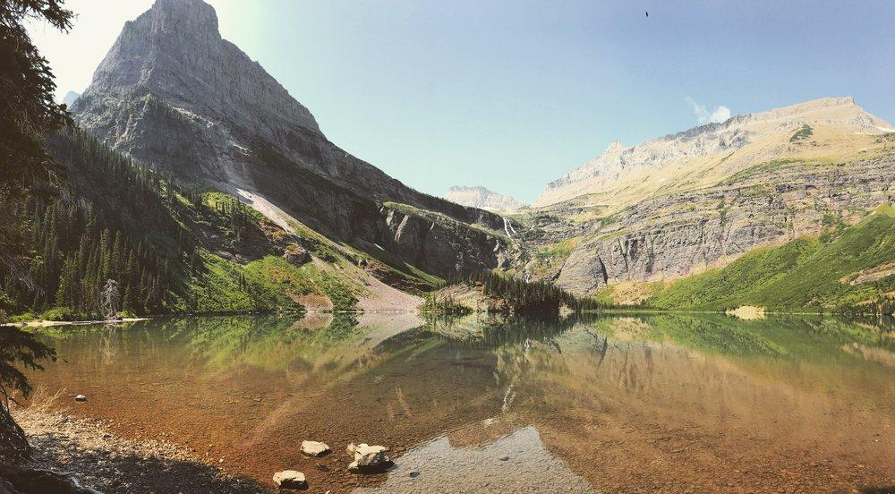 Grinnell Lake, Glacier National Park.
